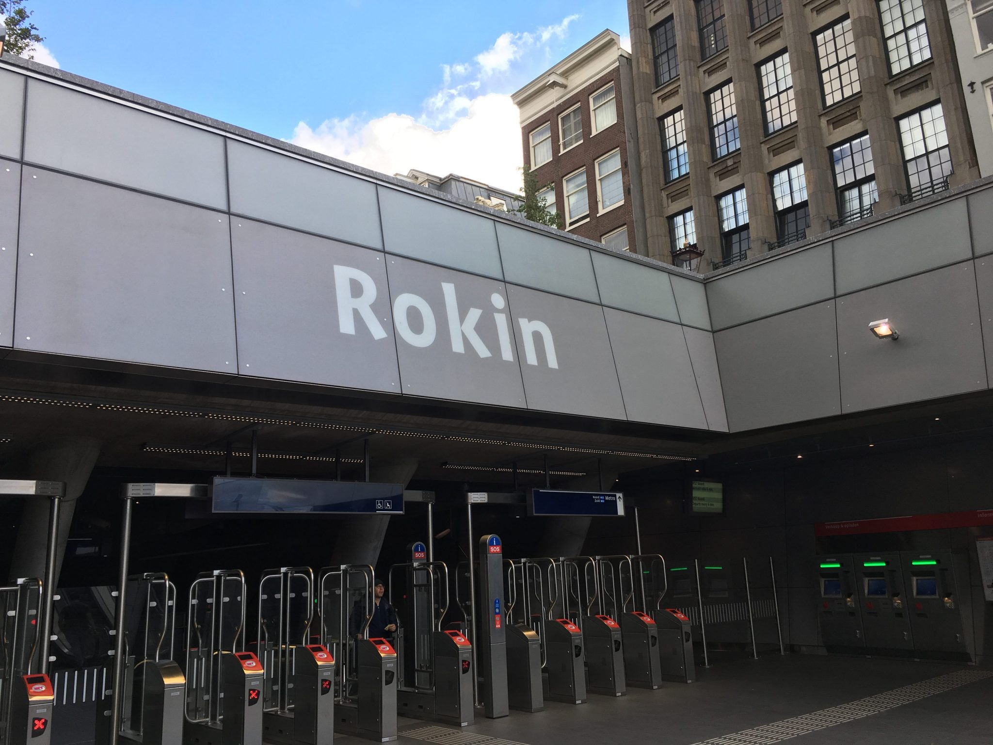 Thousands of historical excavations in an artwork display at the North / South line between the escalators at Rokin station