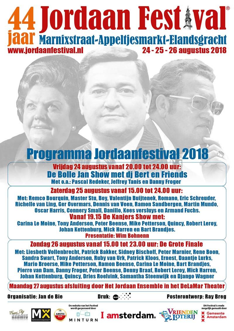 Jordaan Festival poster | Amsterdamjordaan.com